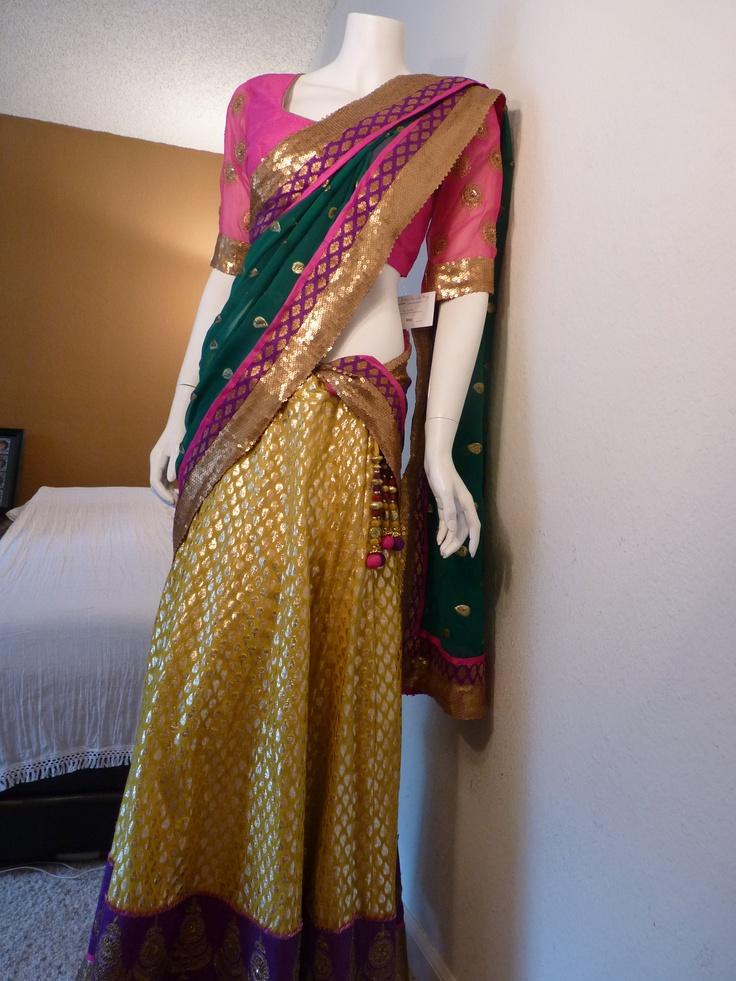 Material: Brocade skirt  Blouse: Rawsilk  Dupatta: Georget