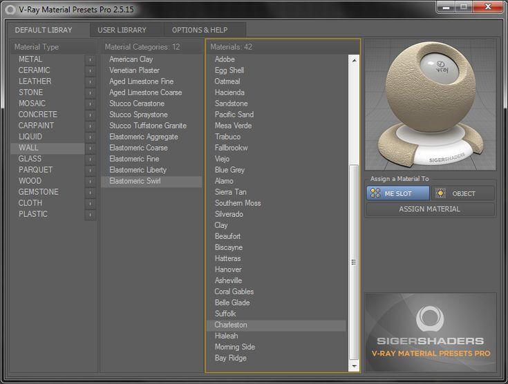 V-Ray Material Presets Pro | ScriptSpot