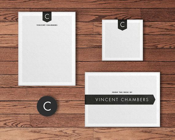 MODERN STATIONARY - Personalized stationary, notepad, notecards, sticky notes, envelope seals