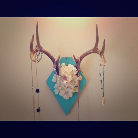 Deer Antler Wall Art! Would keep it at a euro mount at least or a traditional plaque...maybe with my new buck
