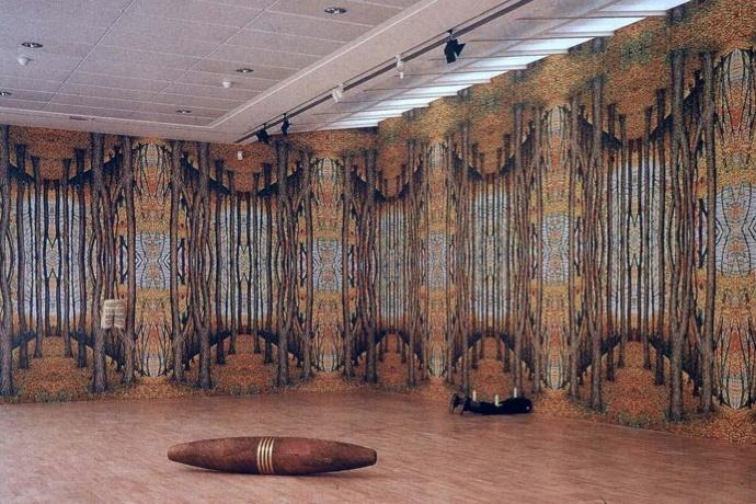 Forest - Robert Gober  Nadenken over vervuiling  Sigaar = vreemd (surrealisme, pop-art)