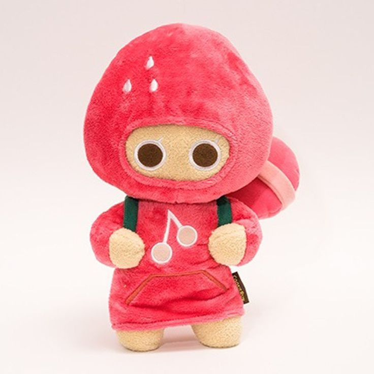 Korea Moblie Game Cookie Run Character Plush Doll 30cm 12in Strawberry Cookie  #Cookierun