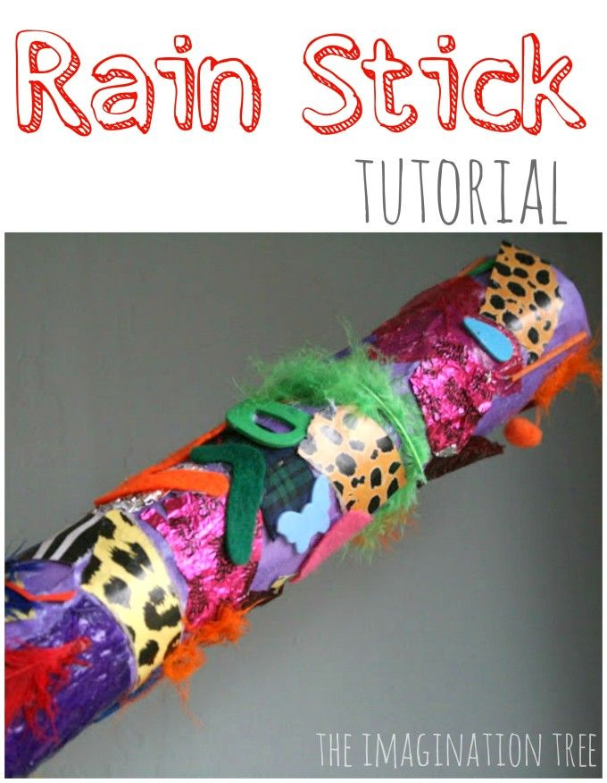 DIY rainstick tutorial- make an instrument that sounds just like falling rain!