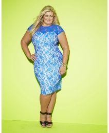 Gemma Collins Bonded Lace Dress