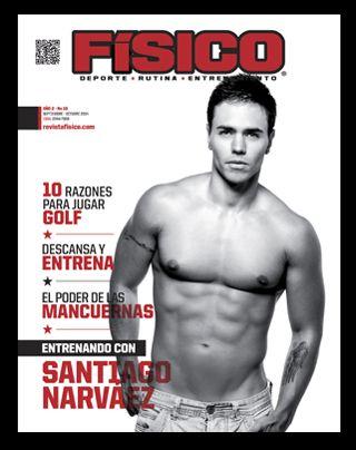 Santiago Narvaez  en portada mas en revista fisico.com