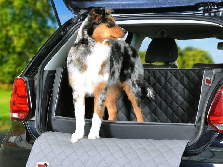Stylisches Hundebett für den Kofferraum Kunstleder  Kofferraumhundebett Duo plus (Standardmaß) oder für verschiedene Automodelle