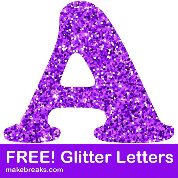 Free Printable Purple Glitter Letters To Download