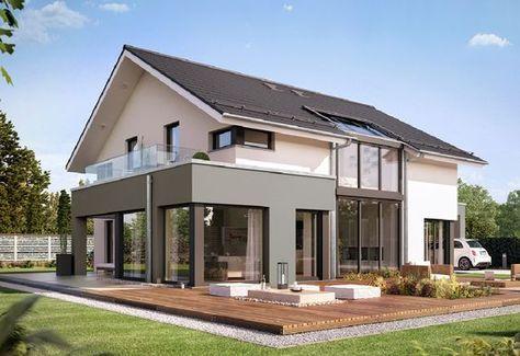 CONCEPT-M München Mod-Classic V2 - Bien Zenker - http://www.hausbaudirekt.de/haus/concept-m-muenchen-mod-classic-v2/ - Fertighaus als Einfamilienhaus Modernes Haus Stadthaus mit Satteldach