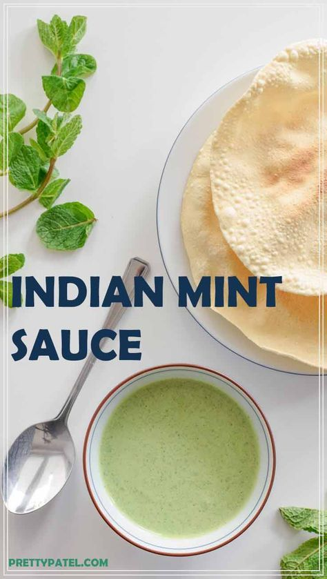 This Indian mint sauce is great with poppadoms and…
