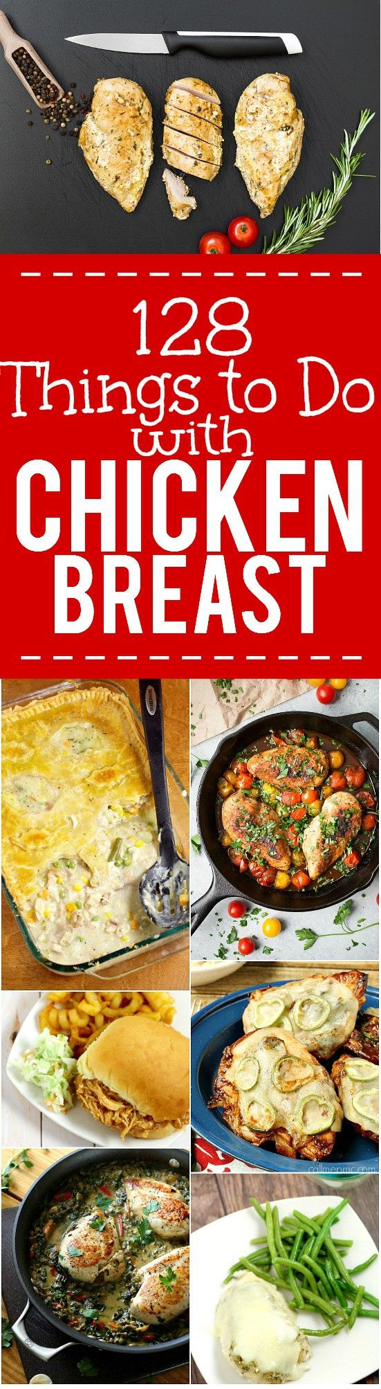 128 Chicken Breast Recipes perfect for using up that chicken breast in your freezer. Epic collection of 128 of the best quick, easy, and delicious Chicken Breast Recipes from soups and salads to entrees and casseroles. No more boring chicken breast!