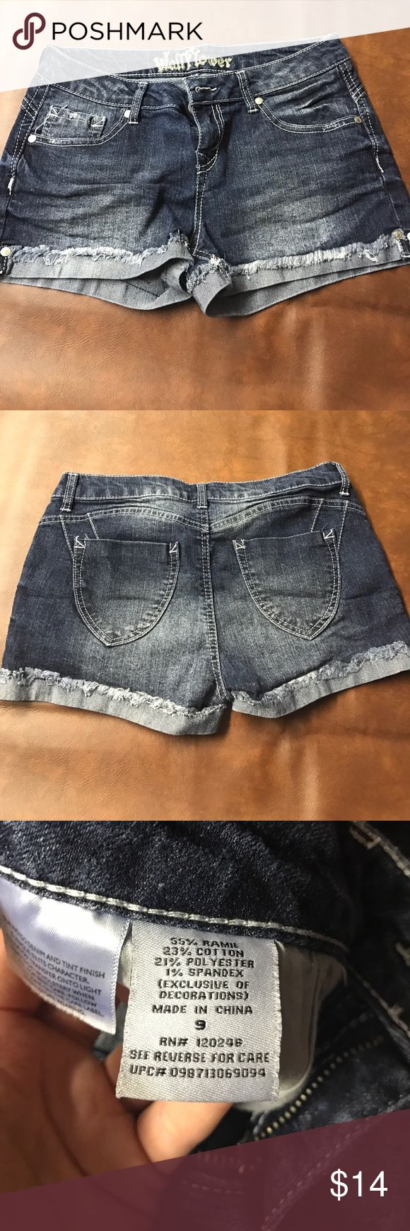 Size 9 jean shorts Wallflower jean shorts. Size 9. Worn maybe once or twice. Look brand new. Wallflower Shorts Jean Shorts