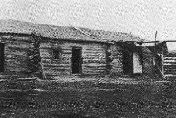 Métis log house...Floors- some log cabins had wooden floors, while some had dirt floors. Water was added to the floor on occasion to keep the dirt floors packed down.   Walls- Buffalo hair and clay were added to the inside walls for added insulation. Typical Métis families decorated their walls with: guns, powder horns, bullet bags, animal skins, snowshoes.