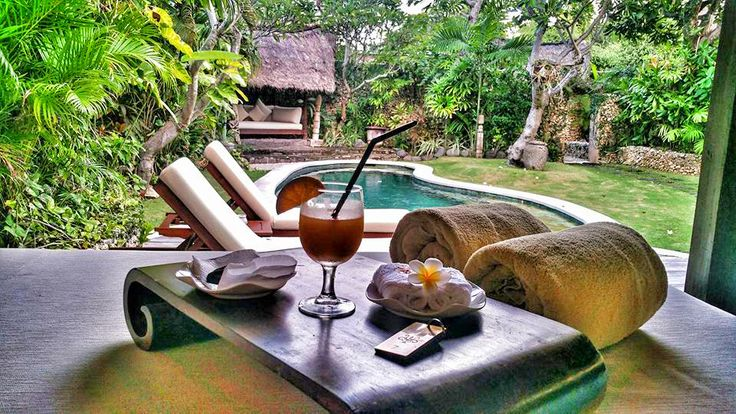 Welcome drinks, cool towels and beautiful villas with private pool await your arrival at #VillaKubu  Lovely photo shared by our recent guest @anurbanvillage  https://www.villakubu.com/seminyak-villas/villa-rates/  #lovely #seminyak #villa7 #balivilla #luxuryvilla #wanderlust #sanctuary #globetrotter #tropicalparadise #bali