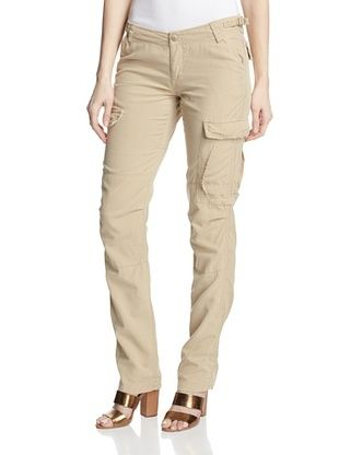 72% OFF DA-NANG Women's Cargo Pant with Metallic Trim (Pebble Beige)