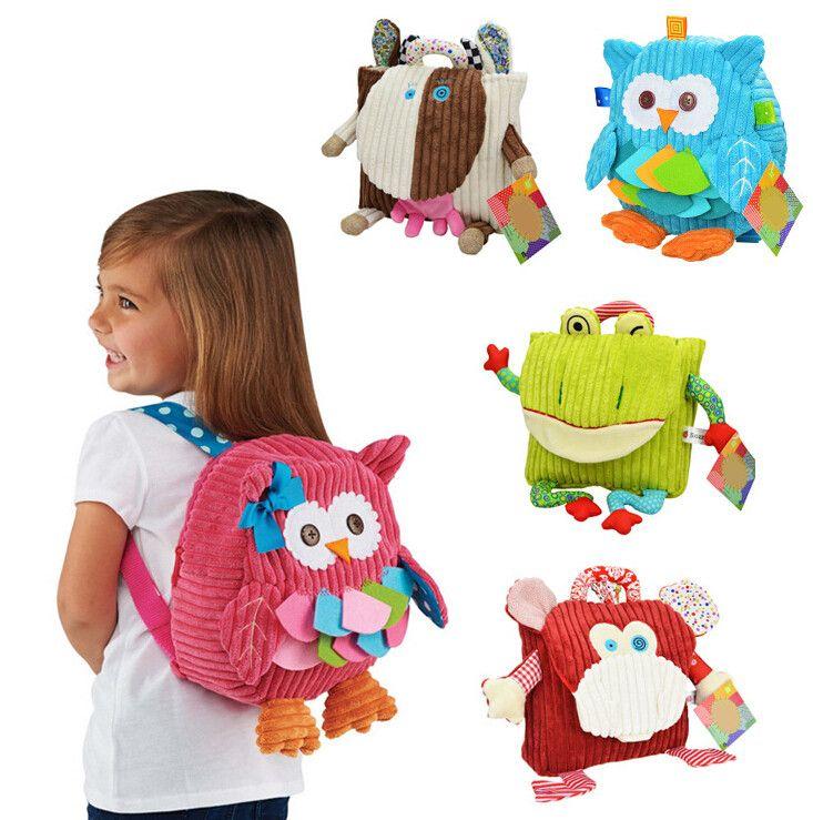 Sozzy 5 Styles cute cartoon Children Packing Food Picnic Bags  kindergarten  plush backpack bag  kid School Bags
