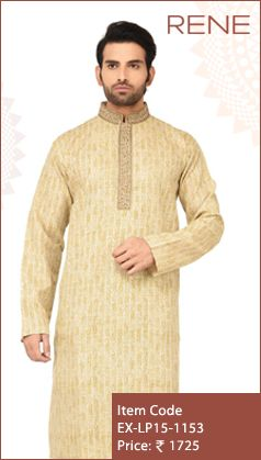 #Exclusive #EthnicWear #Design #Traditional #Trendy #Kurta #Men #Beige #Ootd #Outfit #Fashion #Style #ReneIndia #Brand available on #Flipkart #Snapdeal #paytm
