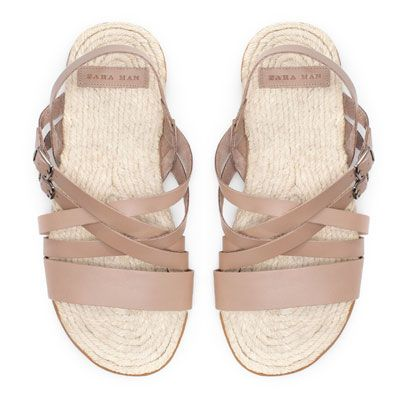ESPADRILLE ROMAN SANDAL - Shoes - Man | ZARA Romania