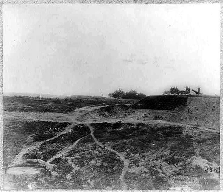 Siege of Yorktown, Va. Confederate fortifications