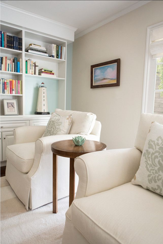 Beau Benjamin Moore Paint Color: Benjamin Moore White Sand 964. The Built In  Wall Is