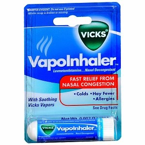 Vicks Vapor Inhaler Soothing Vicks Vapors, Nasal Decongestant, $4.47