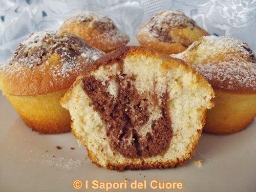 Cupcakes marmorizzati - I Sapori del Cuore