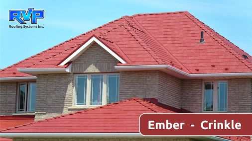 Armadura Metal Roof will last a lifetime.  This Red roof installed by RVP Roofing is call Ember.  Check out more at www.rvp-roofing.com.  Don't forget to like and pin! #RVP #highstrengthsteel #permanentroof #armadura