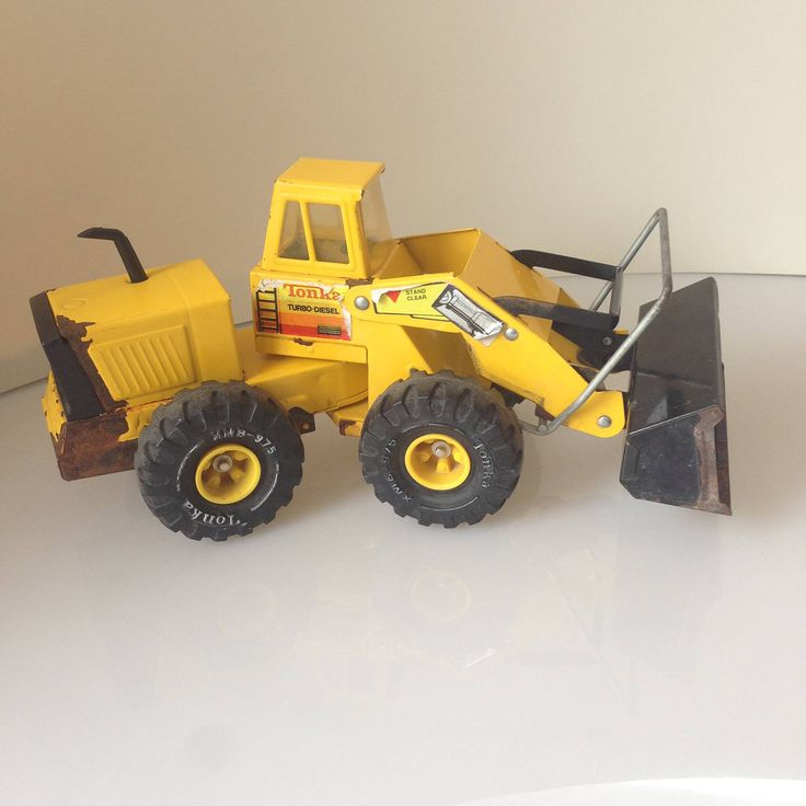 Vintage Tonka Truck   Front End Loader, model 25420, Pressed Steel XMB-975, Mighty Diesel, Collectable Tonka, 1970's tonka toy, vintage toy by Jimpiphanys on Etsy
