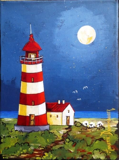 AD1649 Lighthouse(19) by Annette Dannhauser 230mmx300mm