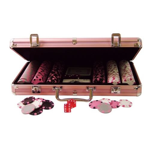 i still want this sooo badly ladies pink poker chip set - Poker Chips Set