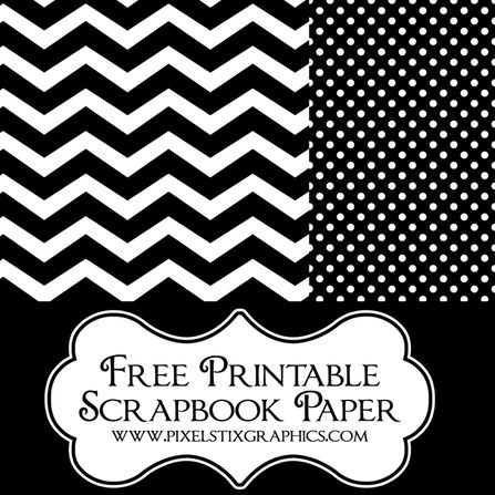 Link to LOTS of free printables, including scrapbook paper, labels and cupcake toppers :-)