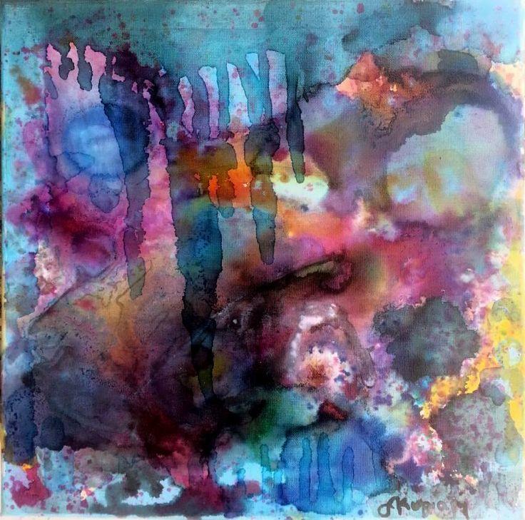 cave / landscape /acrylic on canvas 40x40cm