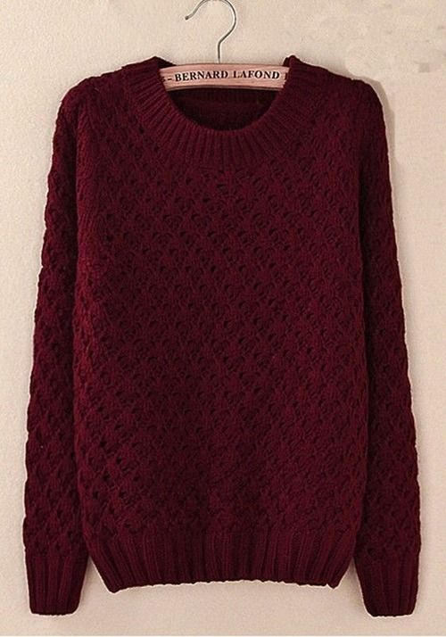 Burgundy chunky knit sweater. Style with leggings and your favorite Rocket Dog shoes. LOVE! #RocketDog