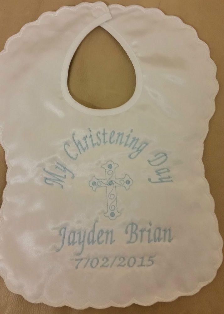 23 best personalised baby gifts images on pinterest babies nursery personalised christeningbaptism bib baby boygirlnaming day keepsake gift negle Images