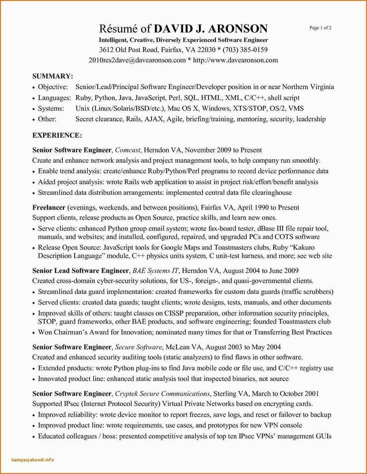ruby on rails developer sample resume
