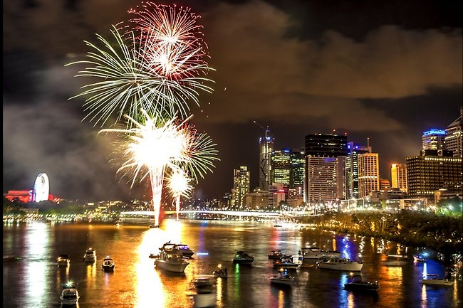New Year's Eve fireworks by Ravi Mistry New Year in