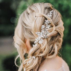 Bridal hairpiece Wedding hairpiece Bridal headband Bridal hair piece Bridal headpiece Wedding headpi - Andrea Parker