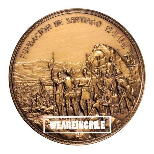 SANTIAGO CHILE 450 YEARS OF SANTIAGO'S FOUNDATION CHILE PEDRO DE VALDIVIA