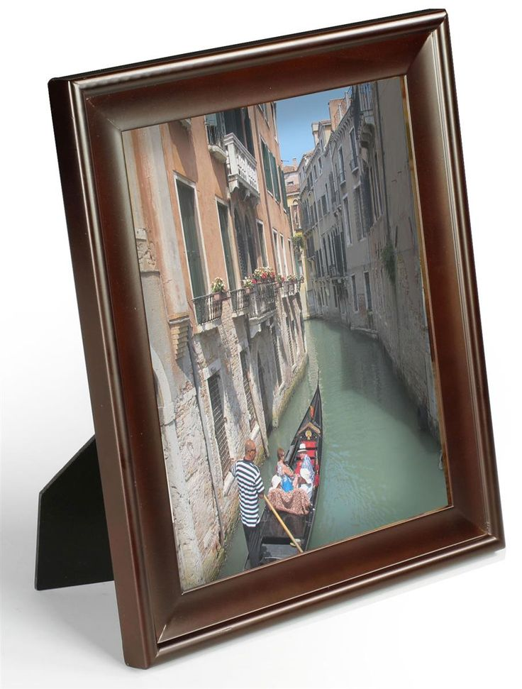 8 X 10 Wood Picture Frame For Tabletop Or Wall Mount Wide Profile Walnut Wood Picture Frames Picture On Wood Frame