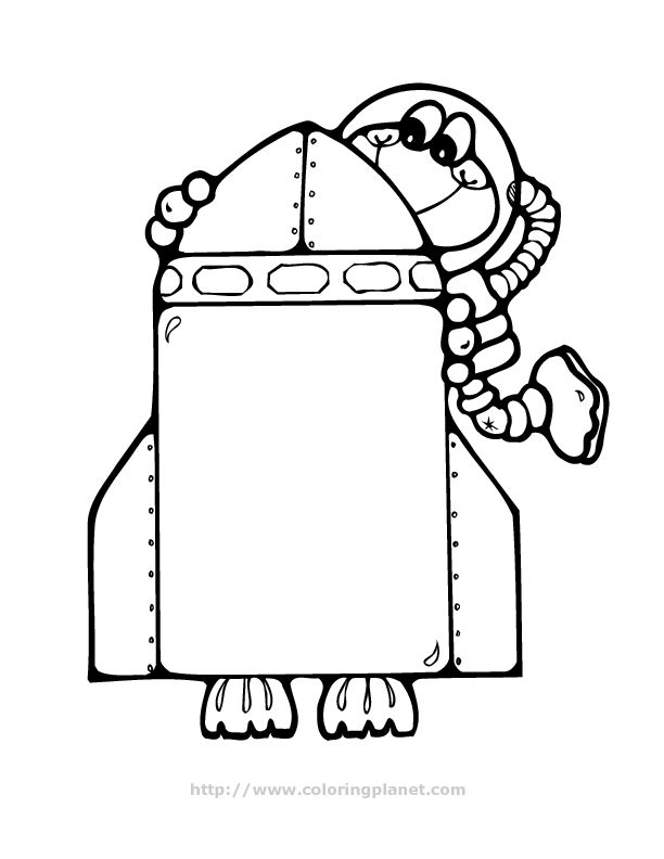 Cartoon Spaceship Coloring PageSpaceshipPrintable Coloring Pages