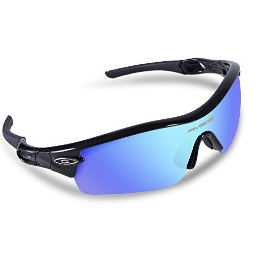 7a263afae742 RIVBOS 805 TR 90 Frame Polarized Sports Sunglasses Sun Glasses with 5 Set  Interchangeable Lenses for