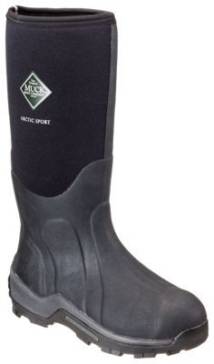 The Original Muck Boot Company Arctic Sport Extreme-Conditions Steel Toe Boots for Men - Black - 10M