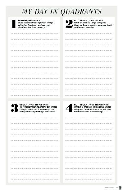 Effortless image with covey quadrants printable
