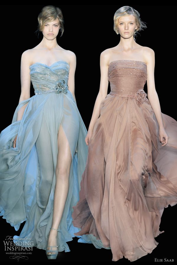 I'm particularly fond of the blue one. Reminds me of Grace Kelly's party dress in High Society