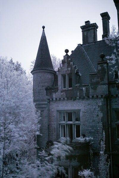This s a photo of the abandoned Château de Noisy in Belgium.  The website features beautiful and creepy photos from abandoned buildings around the world.