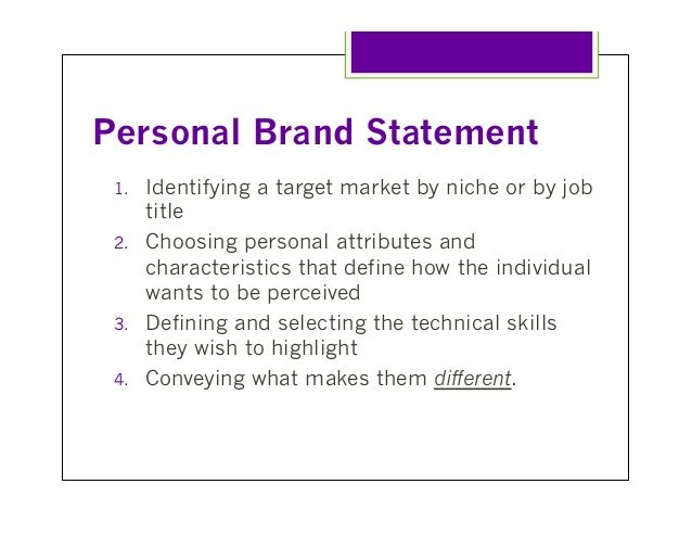 The 25+ best Personal brand statement examples ideas on Pinterest - personal statement sample