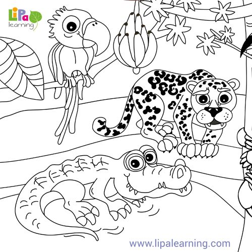 To keep your child smiling all day long, we have lovely animal printables to download and color. Check them out!