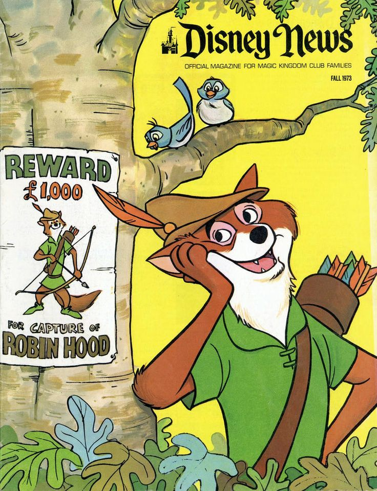 Vintage Disney News Cover Robin Hood 1973 Poster