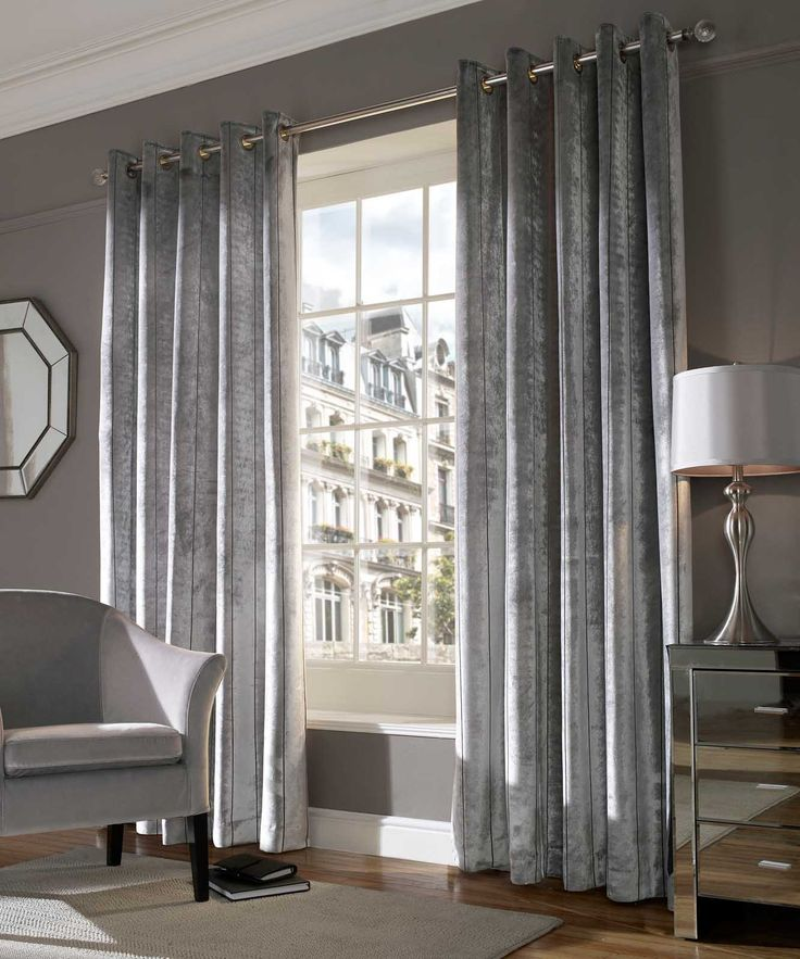 Lux Silver Curtains