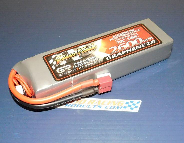 4S 14.8v 4 Cell 2600 mAh 70C-140C Graphene 2.0 LiPo Battery EF-1 Plane Racing or Boat Lipo