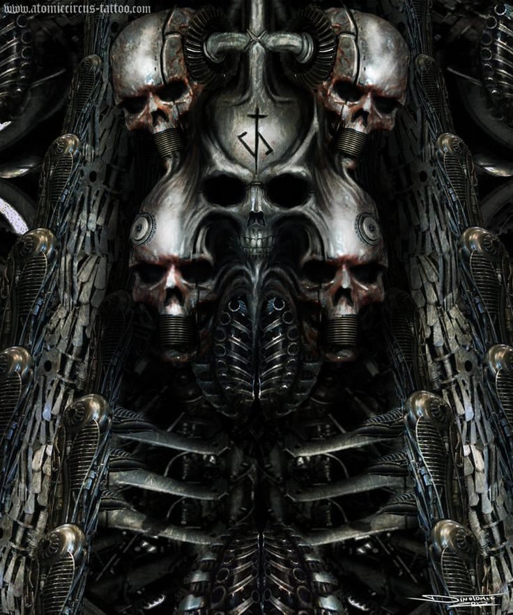 hr giger art giger inspired painting by atomiccircus